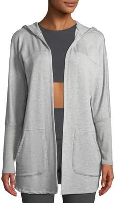 Beyond Yoga Love and Fleece Hooded Open-Front Cardigan
