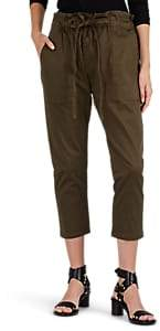 Current/Elliott Women's Tabloid Cotton Twill Crop Trousers - Green