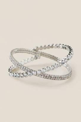francesca's Tammi Criss Cross Bangle - Silver