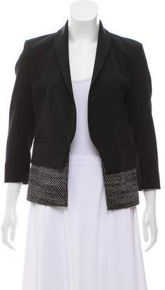 Derek Lam Embroidered Shawl-Lapel Blazer