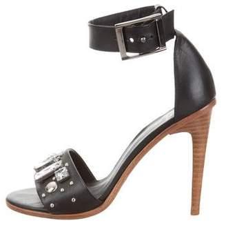 Tibi Embellished Multistrap Sandals