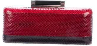 Diane von Furstenberg Embossed Leather Tonda Clutch