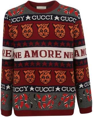 Gucci Symbols Jacquard Jumper