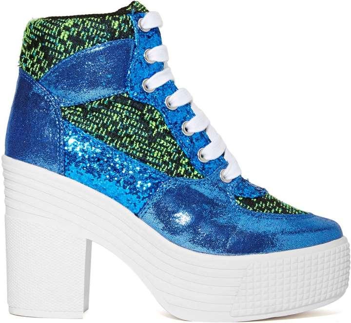 Nasty Gal JC Play by Jeffrey Campbell AsIf Platform Sneaker- Blue/Green