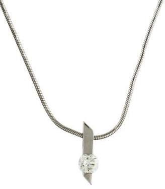 14K Diamond Pendant Necklace white 14K Diamond Pendant Necklace