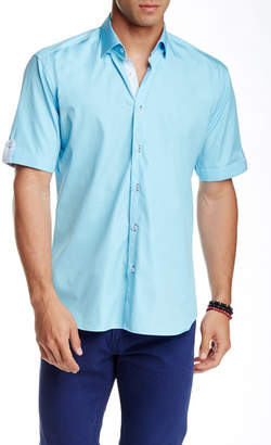 Maceoo Luxor Solid Short Sleeve Semi Slim Fit Shirt (Big & Tall Available) $169 thestylecure.com