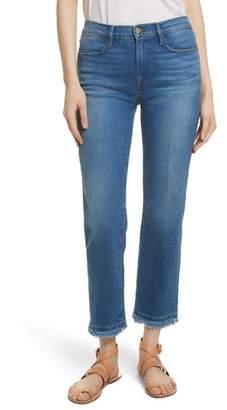 Frame Le High Double Raw Edge High Waist Jeans