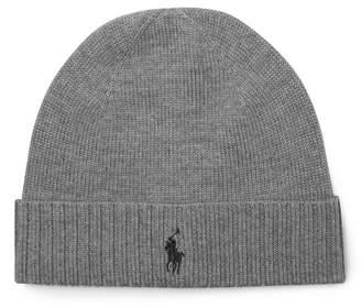 Polo Ralph Lauren Merino Wool Beanie - Gray