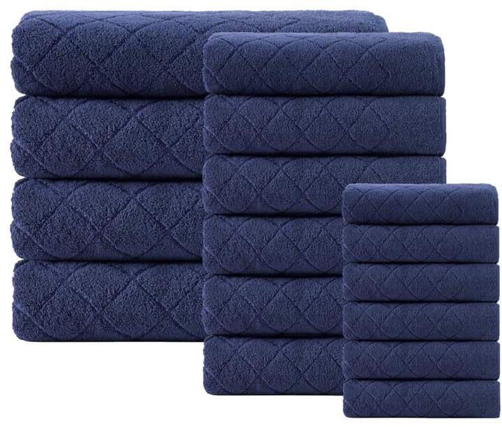 Turko Textile LLC Enchante Home Gracious 16-piece Turkish Cotton Bath Towel Set