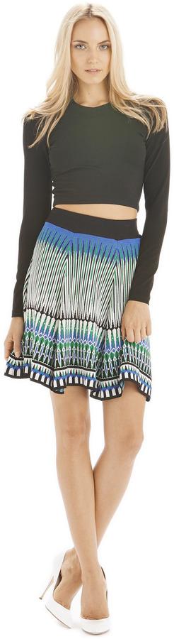 Torn By Ronny Kobo Annabella Skirt Mosaic Jacquard