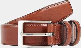 Barneys New York MEN'S LEATHER BELT - BEIGE/TAN SIZE 42