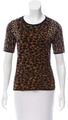 Burberry Animal Print Cashmere Top