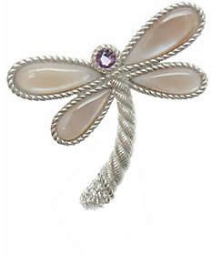 Judith Ripka Sterling Multi-Stone Dragonfly Pin