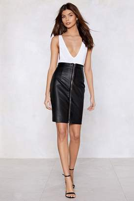 Nasty Gal It's Zip-Up to You Vegan Leather Skirt