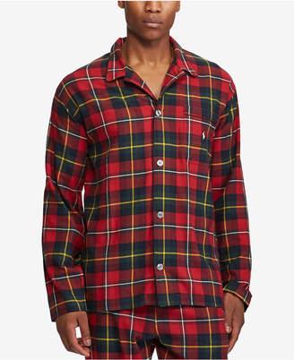 Polo Ralph Lauren Men's Cotton Flannel Plaid Pajama Top