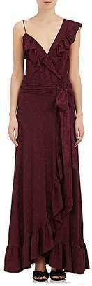 Mayle Maison Women's Vanves Floral Jacquard Silk Wrap Gown