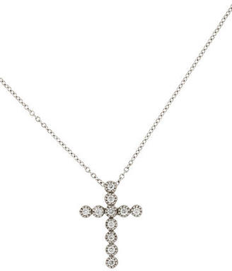 I. Reiss Diamond Cross Necklace w/ Tags $845 thestylecure.com