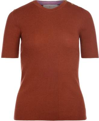 Tory Burch Taylor Brick Color Cashemere Sweater
