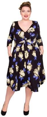 3f5bb39a286 Scarlett   Jo - Multicoloured Viscose Plus Size Jersey Dress