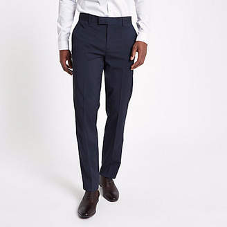 River Island Navy tailored suit pants