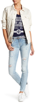 True Religion Destroyed Curvy Skinny Ripped Jeans