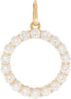 Diamonique Choice of Cross of Circle Pendant, 14K Gold