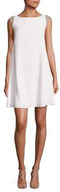 Aidan Mattox Embellished Trapeze Dress