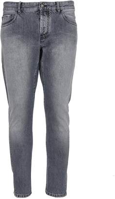 Marcelo Burlon County of Milan Cropped Faded Jeans