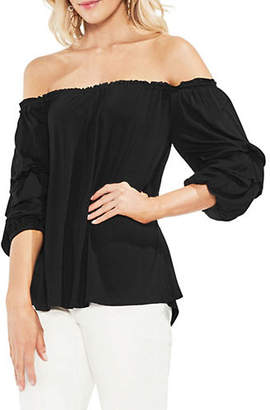 Vince Camuto Tiered Bubble-Sleeve Off-The-Shoulder Top