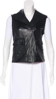 Tory Burch Leather Moto Vest