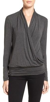 Women's Amour Vert 'Angela' Long Sleeve Wrap Front Top $98 thestylecure.com