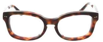 Linda Farrow Tortoiseshell Keyhole Eyeglasses