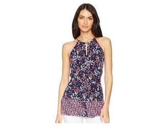 MICHAEL Michael Kors Blooms Trim Neck Tunic Women's Clothing