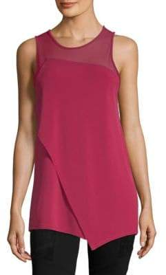 BCBGMAXAZRIA Asymmetrical Sleeveless Top