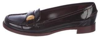 Louis Vuitton Patent Leather Round-Toe Loafers