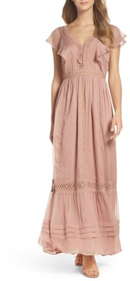 Women's Adelyn Rae Lace Maxi Dress $148 thestylecure.com