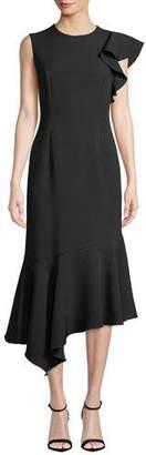 Shoshanna Gracemore Asymmetric Ruffle Dress