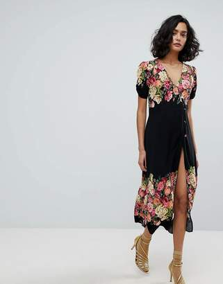 Free People Jaimie Floral Midi Dress