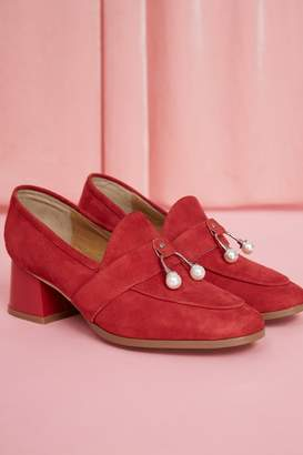 Intermix JAGGAR FOOTWEAR LOAFER HEEL red