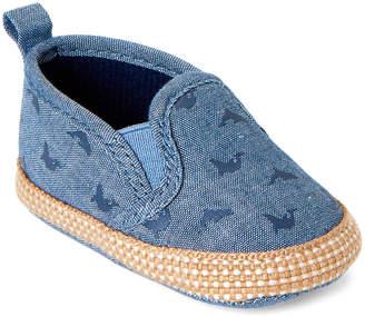 Baby Essentials Rising Star (Newborn/Infant Boys) Blue Shark Slip-On Shoes