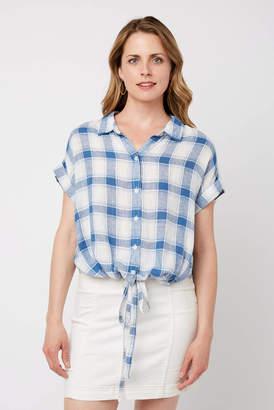 Sanctuary Borrego Plaid Tie Button Down Shirt