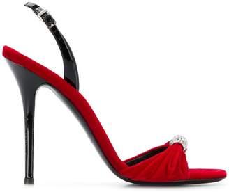 Giuseppe Zanotti Design Sylvia velvet sandals