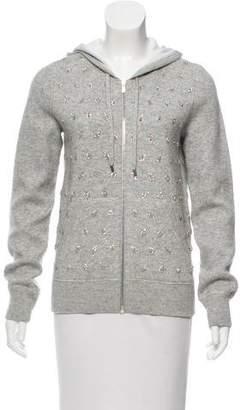 Michael Kors Embellished Zip Front Sweater