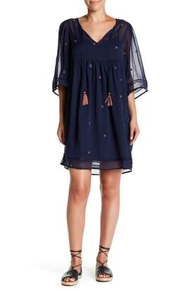 Lucky Brand Peasant Tassle Dress
