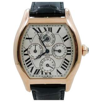 Cartier Mens Tortue Perpetual Calendar Xl In 18k Rose Gold W/ Box
