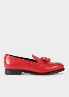 Paul Smith Men's Red Leather 'Simmons' Tasseled Loafers