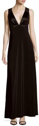 Jill Stuart Solid Crisscross-Back Gown