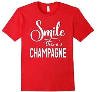 Smile There's Champagne T-Shirt
