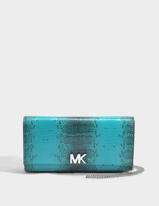 Mott Large East-West Clutch in Tile Blue Python Embossed Calfskin Michael Michael Kors UZX6UfgV