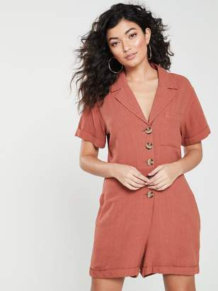 NATIVE YOUTH Knowles Rivere Collar Romper